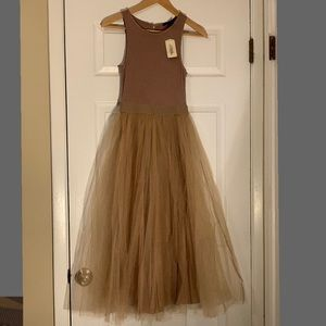Forever 21 Dress Midi Taupe Small